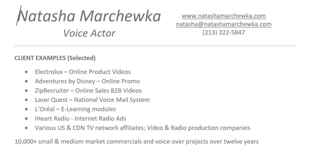 Voice Acting Archives Natasha Marchewka Voice Over Actor
